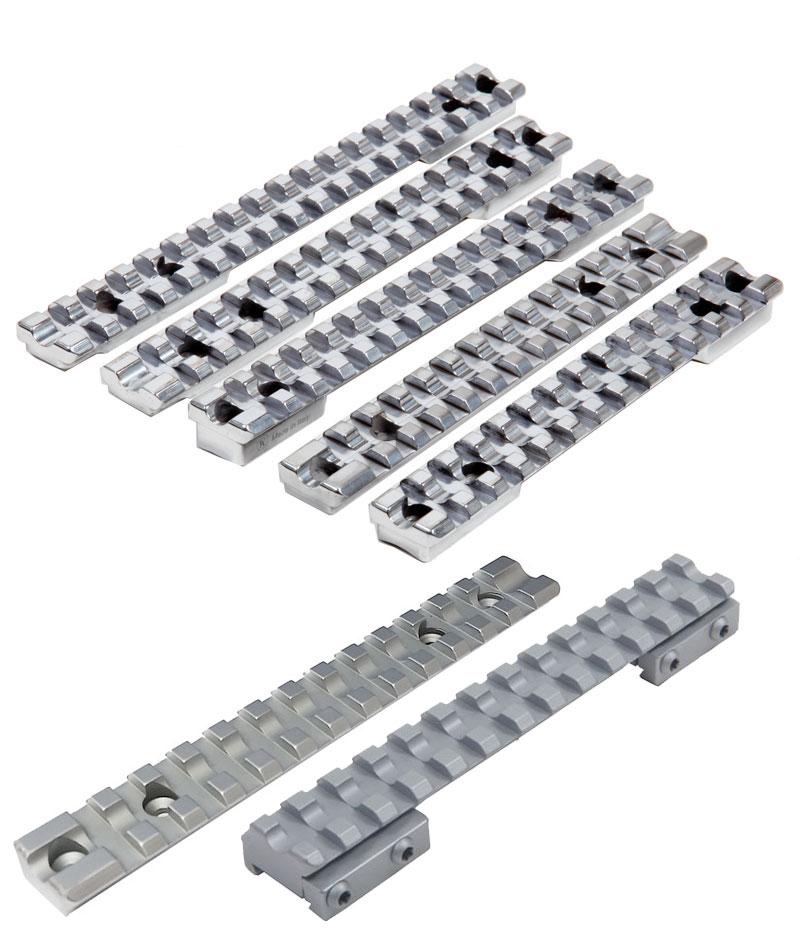Contessa Shiny Chromed Steel Picatinny Rail for Howa 1500 Long 20 MOA Mount